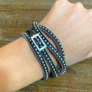 Urban Outfitters Studded Leather Wrap Bracelet